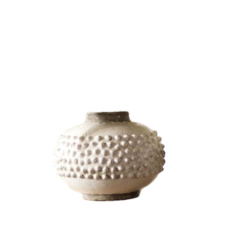 Dotted Textured Vase - Low Round