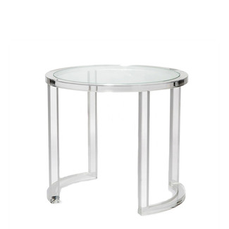 Acrylic Table with Glass Center
