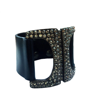 Crystal Studded Buckle Bracelet