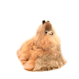 Sitting Alpaca Plush Toy