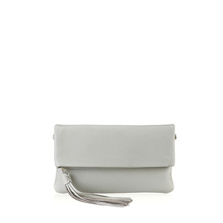 Grey Foldover Clutch
