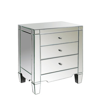 Catherine 3-Drawer Mirrored Side Table