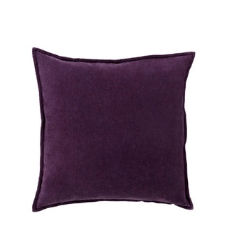 Purple Cotton Velvet Accent Pillow