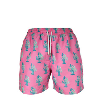 Pink Lobster Swim Trunk - Slim Fit