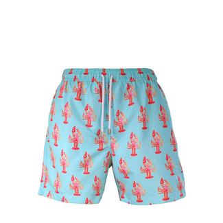 Aqua Lobster Swim Trunk