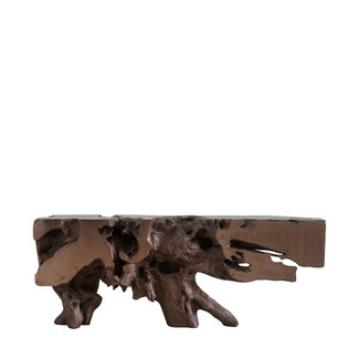 Freeform Bronze Resin Console Table