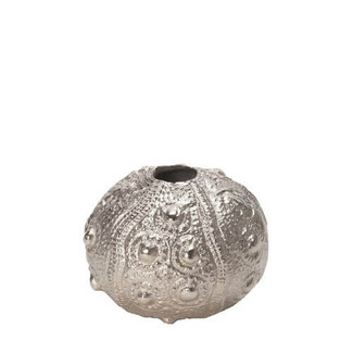SILVER SEA URCHIN VASE - SMALL