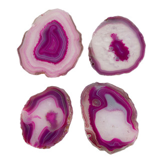 PINK AGATE COASTERS - SET OF 4