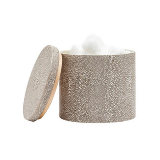 Faux Shagreen Canister- Sand