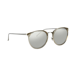 Linda Farrow 251 C35 Oval Sunglasses in Truffle