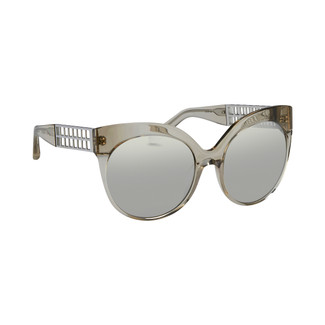 Linda Farrow 388 C16 Cat Eye Sunglasses in Truffle