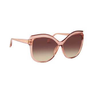 Linda Farrow 465 C6 Oversized Sunglasses in Tea Rose