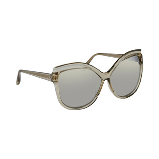 Linda Farrow 465 C11 Oversized Sunglasses In Truffle