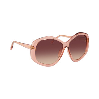 Linda Farrow 467 C5 Sunglasses in Tea Rose
