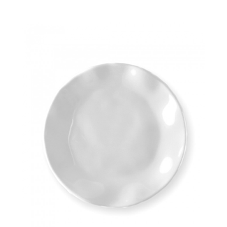 Ruffle Round Bread & Butter Plate- White