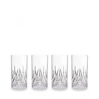 Aurora Crystal Clear Highball Tumblers-  Set of 4