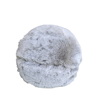 Faux Fur Snowball Pillow