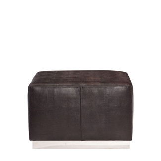 Neal Leather Ottoman