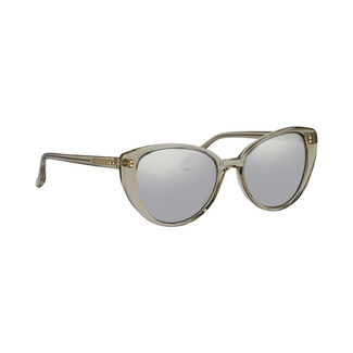 Linda Farrow 517 C3 Cat Eye Sunglasses in Truffle