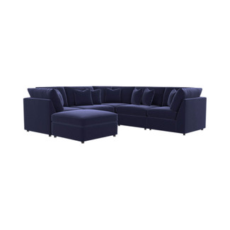 Beckham 6PC Premium Velvet U-Shaped Sectional