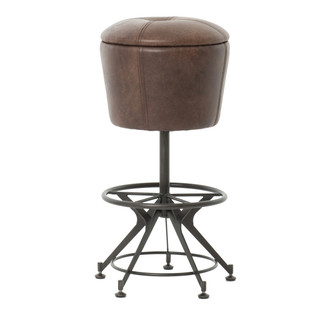 Giles Leather Bar Stool