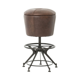 Giles Leather Counter Stool