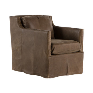 Lucca Leather Swivel Chair