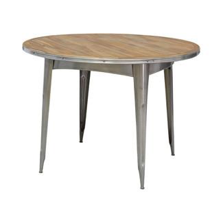 Indoor/Outdoor Navy Teak Top Dining Table