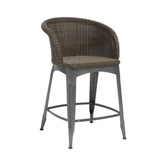 Navy Outdoor Counter Barstool