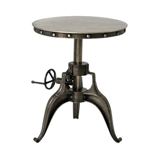 Crank Industrial End Table