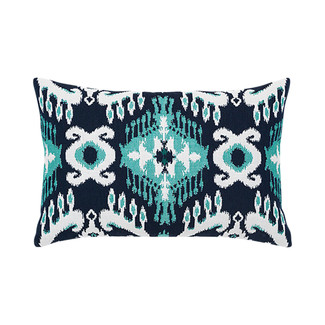 Patras Ikat Lumbar Accent Pillow