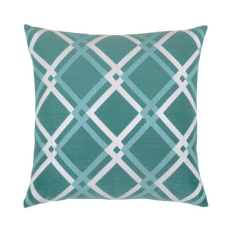 Diamond Aqua Accent Pillow