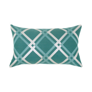 Diamond Aqua Lumbar Accent Pillow