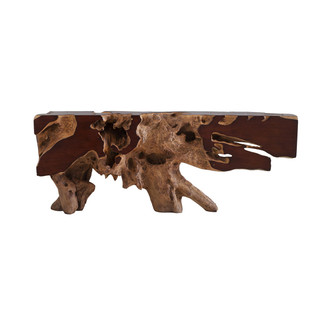 Freeform Faux Bois  Resin Console Table