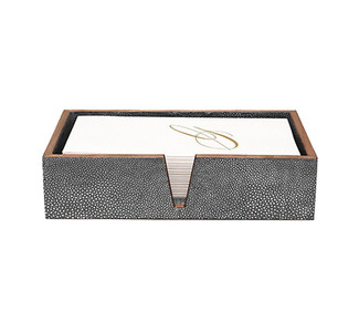 Manchester Faux Shagreen Hand Towel Tray Set