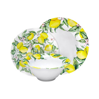 Limonata 12PC Melamine Dinnerware Set