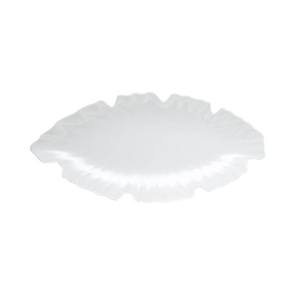 Zen Large White Leaf Platter
