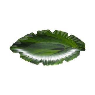 Zen Large Green Leaf Platter