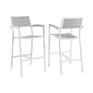 Maine Outdoor Patio Bar Stools- Set of 2