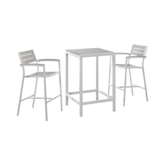 Maine 3 Piece Outdoor Patio Bar Set