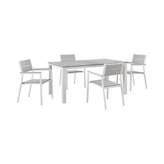 Maine 5 Piece Outdoor Rectangular Dining Set