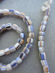 White Striped Gooseberry Beads