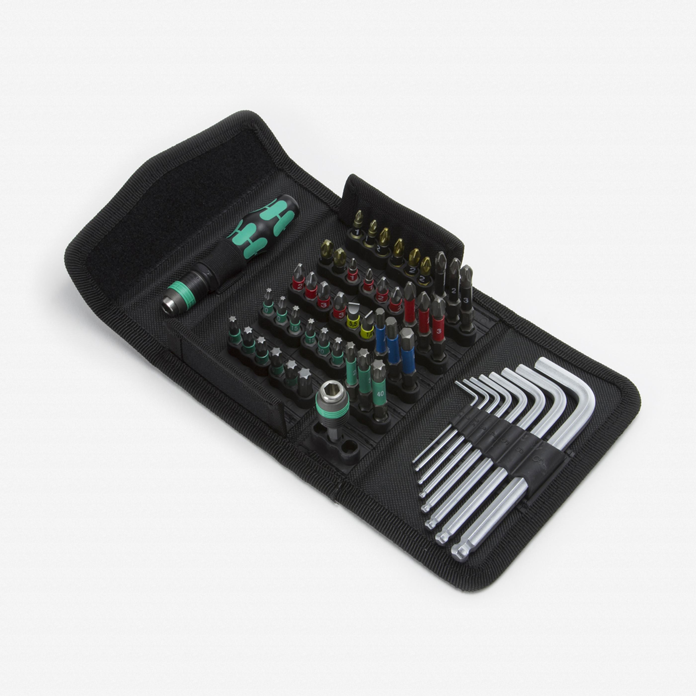 wera tools 057460 kraftform kompakt 100 set. Black Bedroom Furniture Sets. Home Design Ideas