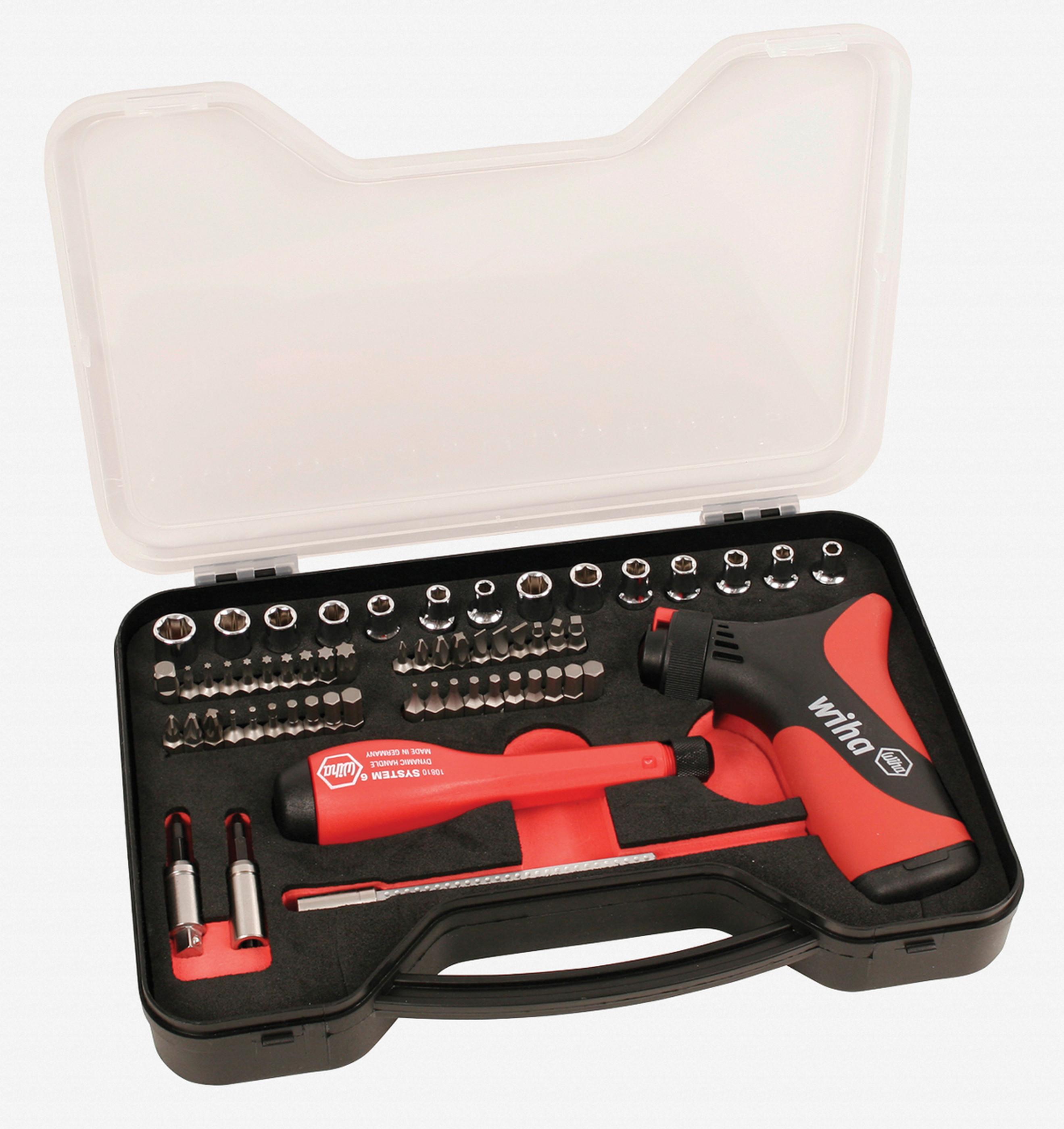 Wiha 28584 59 Piece 17.5 - 70 In/lbs Pistol Ratchet TorqueControl Set