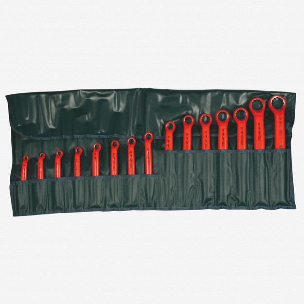 Wiha 21094 15 Piece Insulated Deep Offset Wrench SAE Pouch Set
