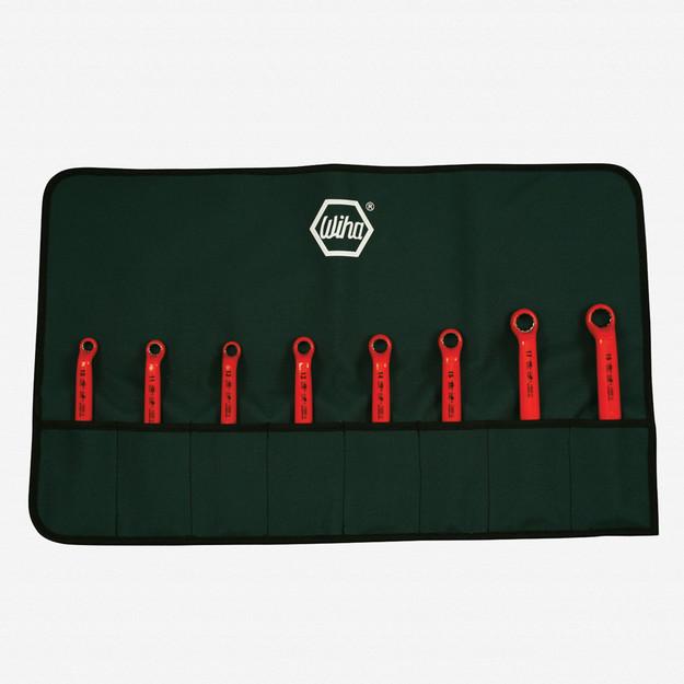 Wiha 21095 8 Piece Insulated Deep Offset Wrench Metric Pouch Set