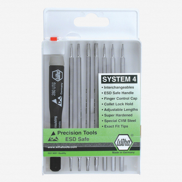 Wiha 26987 8 Piece System 4 ESD Safe Torx Set - KC Tool