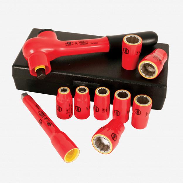 "Wiha 31590 10 Piece Insulated 3/8"" Drive Metric Socket Box Set"
