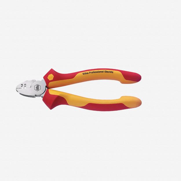 Wiha 32861 Diagonal Cutter w/ Stripping Holes - Insulated