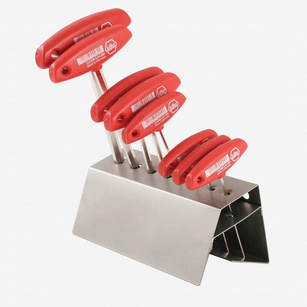 Wiha 33488 8 Piece Hex Metric T-handle Rack Set